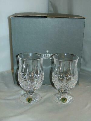 2 Waterford Lismore Crystal Footed Bevarage Tumblers Punch Glass 136470 New Box