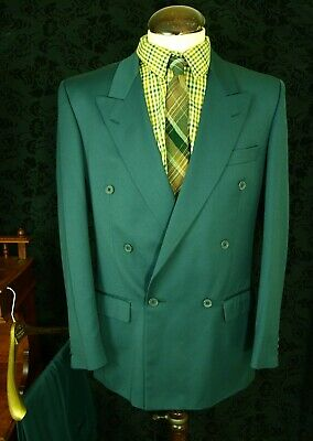 Mens Vtg M & S Lindby hop swing DB Double Breasted Suit 1940's SZ 40 32w 31l (8)