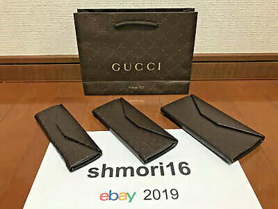 Gucci Sunglasees Case Guccissima Brown Eyeglasses Leather GG 2way S M L Auth