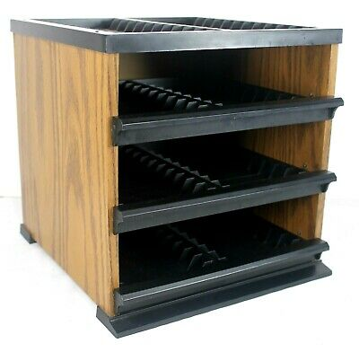 Audio Music Cassette Storage Cube Tower Holds 96 Cassettes In 3 Drawers And Top
