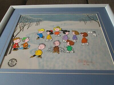 Peanuts A Charlie Brown Christmas Bill Melendez signed limited edition cel