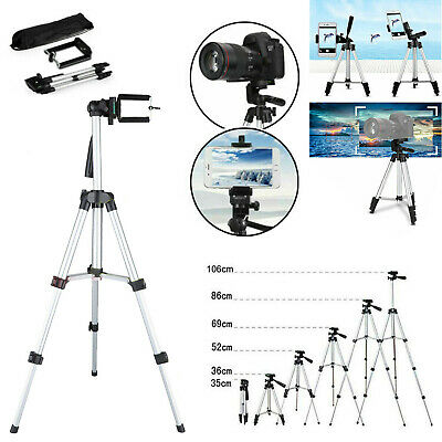 Portable Professional Adjustable Camera Tripod Stand Mount + Cell Phone Holder