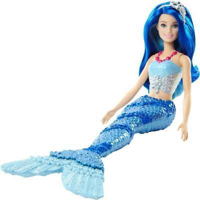 Barbie Dreamtopia Mermaid Doll with Blue Jewel-Themed Tail