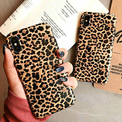 For Apple iPhone Case TPU Soft Silicone Hybrid Rubber Luxury Leopard Print Cover