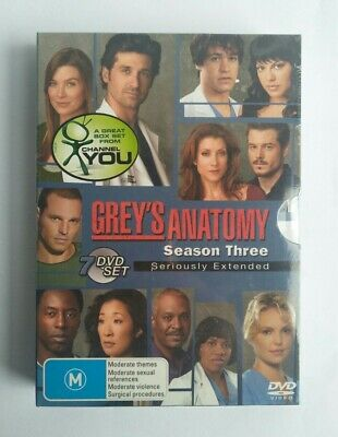 Grey's Anatomy : Season 3 ( 7-Disc DVD Set) New Sealed Region 4 PAL