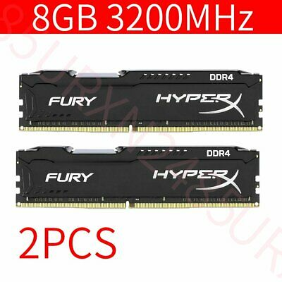 16GB 2x 8GB DDR4 3200MHz PC4-25600 CL18 288Pin Desktop Memory For HyperX Fury UK