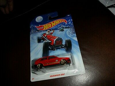 2014 Hot Wheels Holiday Hot Rods Volkswagen Golf #8/8 Red Walmart Exclusive