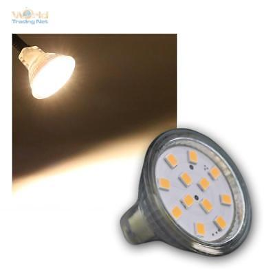 Pack of 5 LED Mr11 12v 3w Lamp Warm White 245lm, Bulb Spotlight Lamp Spot