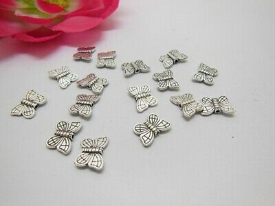 100Pcs Butterfly Shape Carved Spacer Beads Jewellery Finding