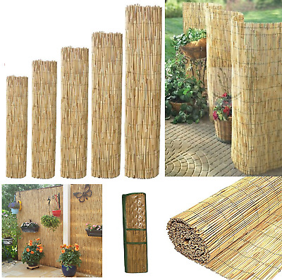 Bamboo Natural Peeled Reed Fence Garden Privacy Wind Break Screen Wall 1.5m x 4m