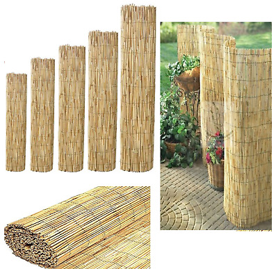 Natural Peeled Reed Fence Garden Privacy Wind Break Bamboo Screen Wall 1.8m x 4m