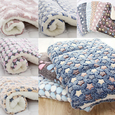 Soft Cosy Warm Fleece Pet Dog Cat Puppy Animal Kitten Blanket Sleep Bed Mat Pad