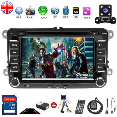 "7"" Car Stereo Radio DVD GPS Sat Nav Bluetooth for VW Golf MK5 MK6 Jetta + Camera"