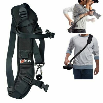 Black Neck Sling Camera Strap Quick Rapid Shoulder Belt For SLR DSLR