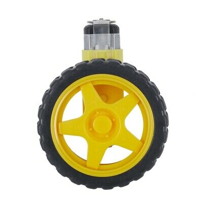 2X(1:48 Pneumatic Tire Wheel with DC 3-6V Gear Motor for Arduino Smart Car H5H3)