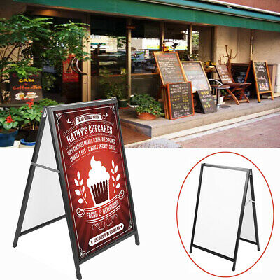 Heavy Duty Double Side Sidewalk Iron A Frame Advertising Sign Board Poster Stand