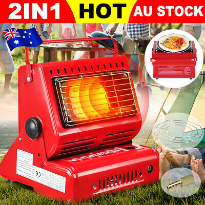 2 in 1 Portable Butane Gas Heater Camping Outdoor Camper Survival Heat 1.3KW