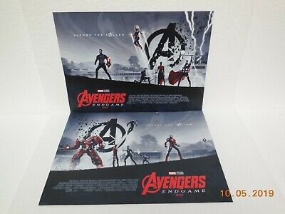 """Marvel Studios ~ Two Avengers End Game Posters ~ 16.5"""" x 11.5"""""""