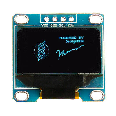 5Pcs 0.96 Inch 4Pin IIC I2C SSD136 128x64 DC 3V-5V Blue OLED Display Module For