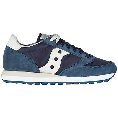 buy popular babce 9e178 Saucony Chaussures Baskets Sneakers Homme En Daim Jazz Original Bleu C03
