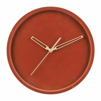 Karlsson Lush Velvet Wall Clock - Clay Brown / Red