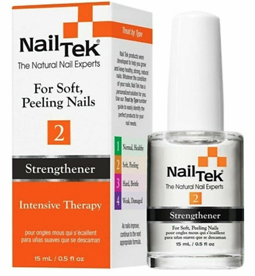 Nail Tek 2 Intensive Therapy Strengthener Treatment Soft Peeling Nails 15ml