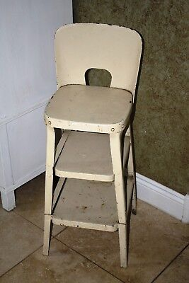 Gorgeous Antique Metal Child's High Chair - Value Deal!!