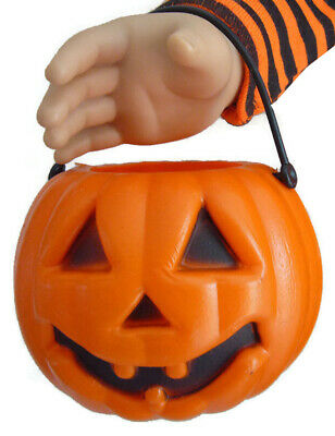 """Halloween Pumpkin Candy Holder for 18"""" American Girl Doll SIZED Accessories"""