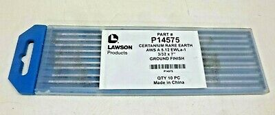 """New!! Lawson Products, P14575, Aws A 5.12, 3/32 X7"""", Ground Finish, 10Pc"""