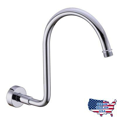 HANEBATH Brass GOOSENECK Extension Shower Arm with Flange , Chrome or Brushed Ni