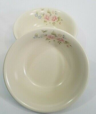 Pfaltzgraff Tea Rose Set of 2 Deep Soup Cereal Bowls