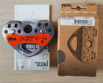 DOUBLE PULLEY CARRUCOLA TANDEM CABLE PETZL ALPINISMO SPELEOLOGIA