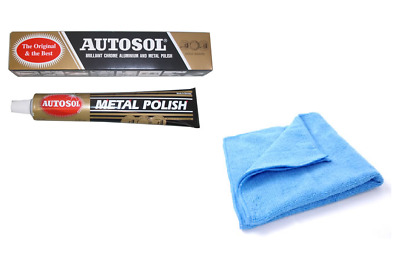 Autosol Solvol Chrome Polish Aluminium Metal Paste Polish Car Motorcycle + CLOTH