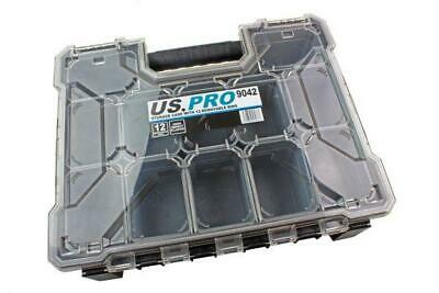 US Pro storage case with 12 removable bins, compartments B9042