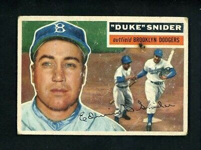 1956 Topps # 150 Duke Snider good condition gray back Brooklyn Dodgers