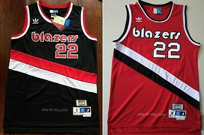 edcc7dcb Clyde Drexler #22 Portland Trail Blazers 1983-84 Throwback Jersey - Black /  Red