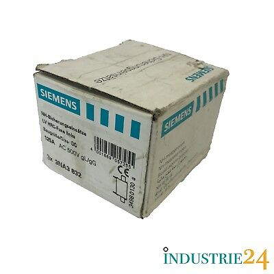 Siemens 3NA3 832 Nh-Sicherungseinsätze 3 Pcs. *New Original Packaging*