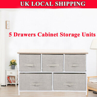5 Drawers Wooden Cabinet Furniture Cabinet Cupboard Shelves Storage units  NEW