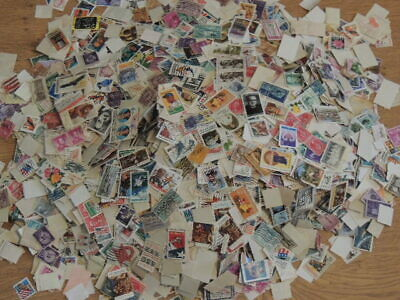 Thousands of US off paper - 2 pounds of stamps -mostly commems - huge variety