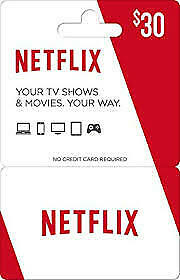 30$ Netflix Gift Cards !Instant Delivery!