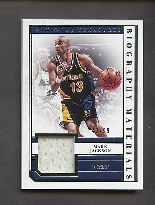 e191fcc556f3 2018-19 National Treasures Biography Mark Jackson Jersey 42 99 Indiana  Pacers
