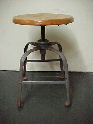Enjoyable Antique Industrial Drafting Stool Toledo Style C 1915 Caraccident5 Cool Chair Designs And Ideas Caraccident5Info