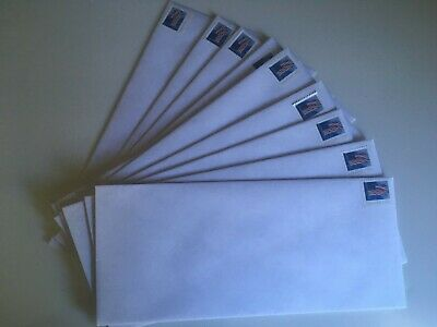 Pack of 10 Forever Stamped #10 Security Envelopes ready to use