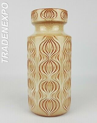 1970s Vintage SCHEURICH KERAMIK Onion Beige Vase West German Pottery Fat Lava