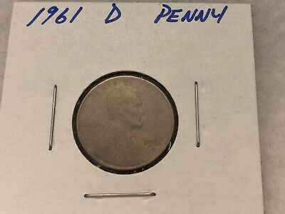 1961 D Lincoln 1c Penny US Coin