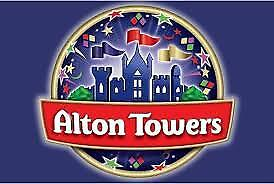 2 x  ALTON TOWERS TICKETS FOR SUN 16TH JUNE