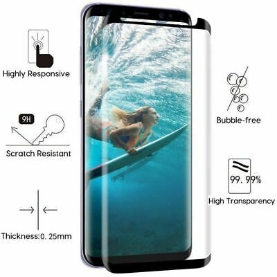 Full Curved 5D Tempered Glass Screen Protector For Samsung Galaxy S8 - Black