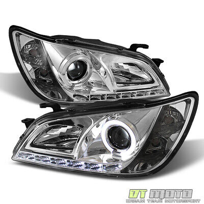 For 2001-2005 Lexus IS300 LED DRL Running Halo Projector Headlights Left+Right