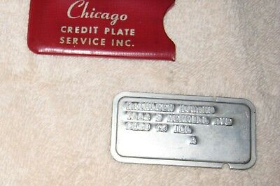 Vintage Chicago Credit Plate & Cover ~ Marshall Fields  Mandel Bros  Pirle Scott