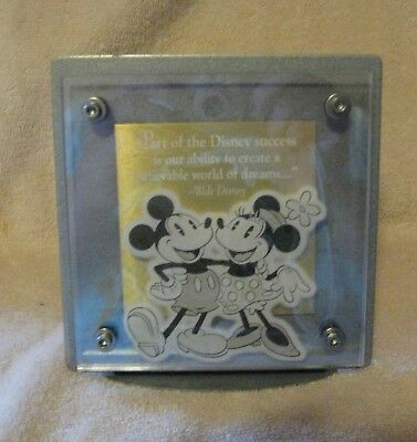 Mickey & Minnie Mouse Wall Plaque ~ Metal & Acrylic ~ Napkin Holder?
